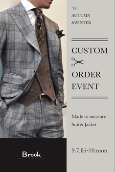 18 AUTUMN & WINTER CUSTOM &ORDER EVENT Made to measure Suit & Jacket