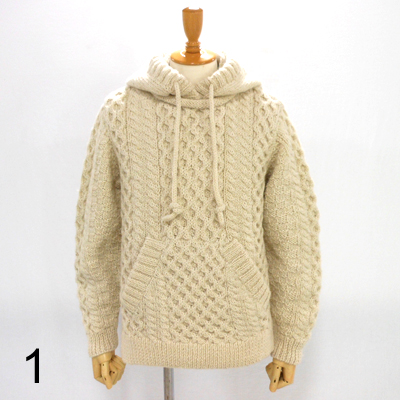 �yHAND-KNITTED HOODIE�z�@NMKN-15AW-004*117