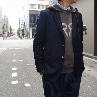 【BAYBROOK EXCLUSIVE NAVY BLAZER】*201画像2