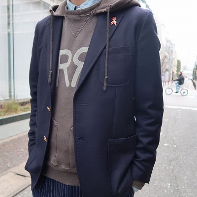 【BAYBROOK EXCLUSIVE NAVY BLAZER】*201画像3