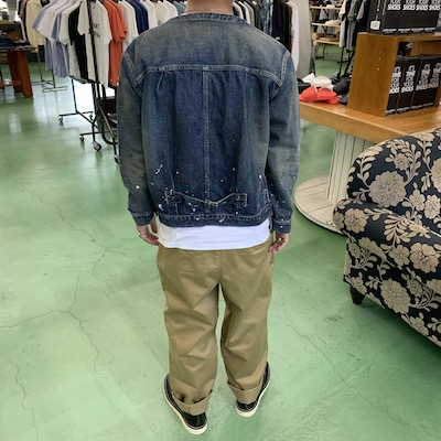 【USED 1st TYPE NO COLLAR DENIM JACKET】CL-20SS031*121画像2