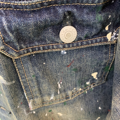 【USED 1st TYPE NO COLLAR DENIM JACKET】CL-20SS031*121画像4