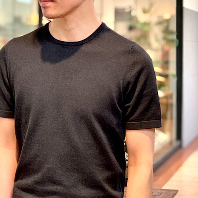 【グランサッソ・Short-sleeved knit T-shirt】*108画像3