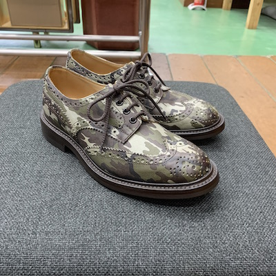 【FULL BROGUE SHOES CAMOUFLAGE】TRM7292*121