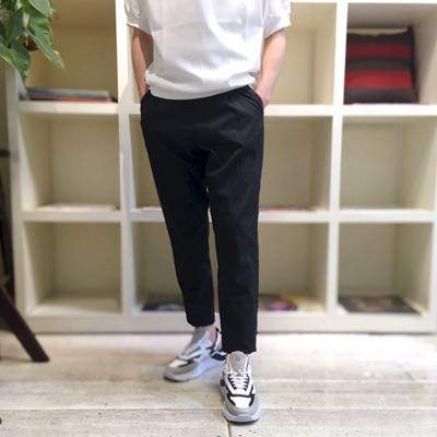 【COTTON NYLON CHAMBRAY RELAX PANTS】MHSL21S5069-S*106