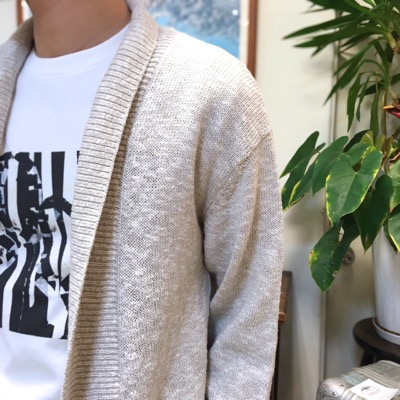 【 linen cotton shawl collar cardigan】CT701*106画像3