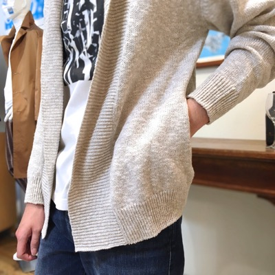 【 linen cotton shawl collar cardigan】CT701*106画像4